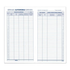 blueline auto expenses log book a295b 2 59 empire safe depot